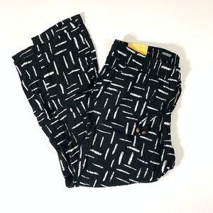 Old Navy Pant Mid Rise Straight Black Medium